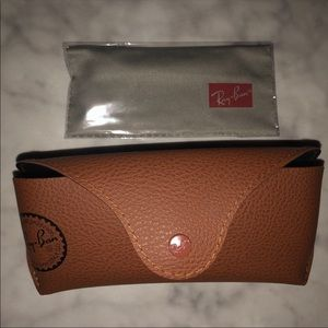 Brown Ray-Ban Glasses case holder